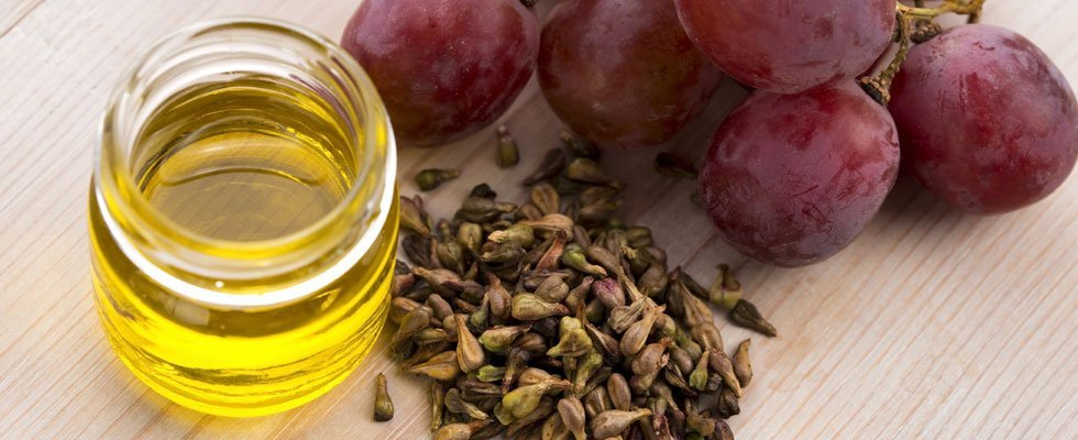 Grape seed extract and grape seeds and grapes
