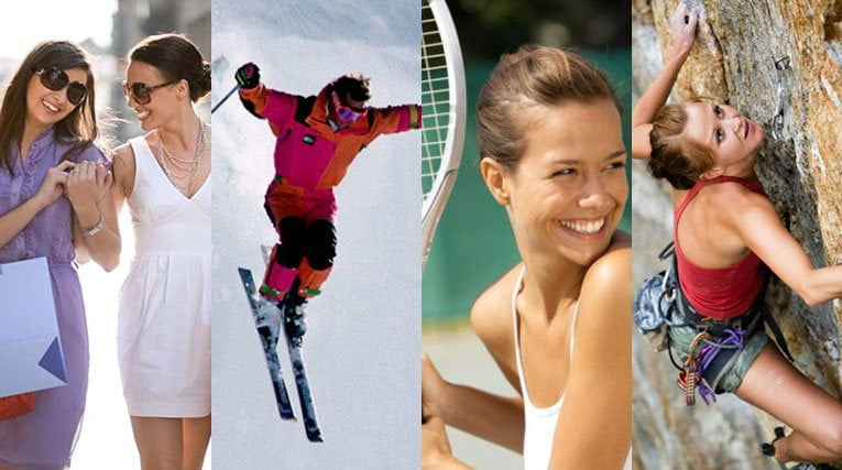 Use Sunsafe Rx While Shopping, Skiing, Playing Tennis, and Rock Climbing