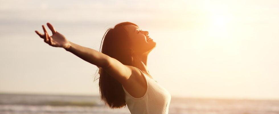 woman making vitamin d in sun